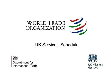 World Trade Organization logo with text: UK Services Schedule