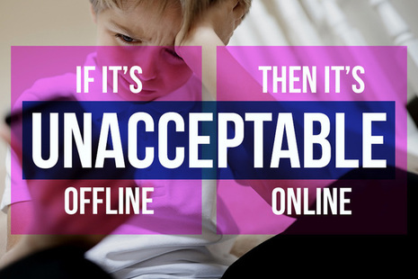 If it's unacceptable offline then it's unacceptable online