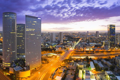 Cityscape of Tel Aviv in Israel.