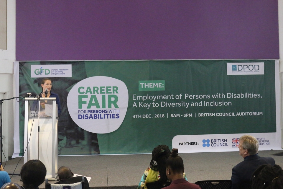 Career Fair for Persons with Disabilities: speech by Jemima Gordon-Duff