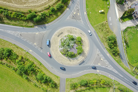 Photo of traffic on a roundabout