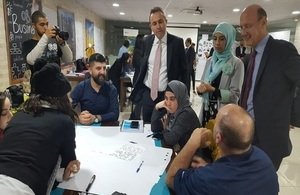 Ambassador Rampling touring UK funded projects in Tripoli