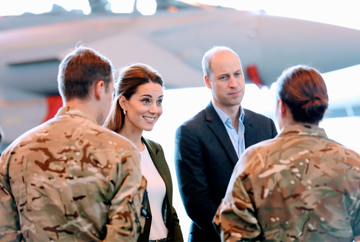 The Duke and Duchess of Cambridge meeting with UK personnel in Cyprus