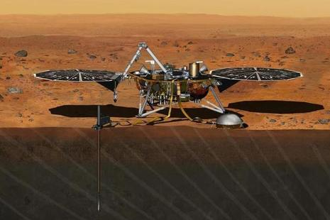 Artist's impression of InSight. Credit: NASA.