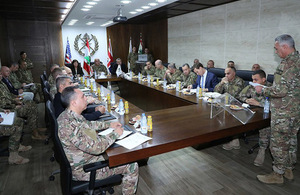 The High Level Steering Committee (HLSC) with the Lebanese army