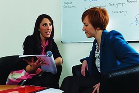 Teachers talking