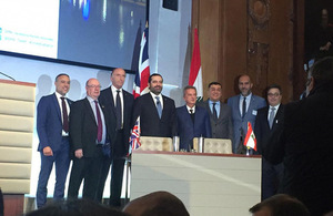 Deal signing between MEA and Rolls Royce in London