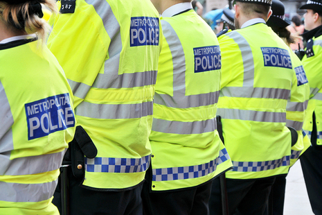 Image of police officers in a line