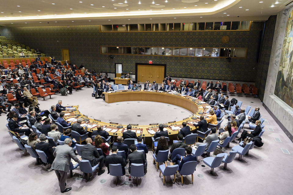 Security Council meeting on the situation in Kosovo. (UN Photo)