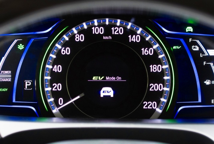 Electrical vehicle mode turned on in hybrid car