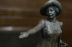 Maquette of Emmeline Pankhurst statue