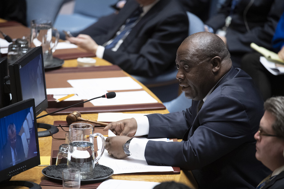 Gbolié Desiré Wulfran Ipo, Deputy Permanent Representative of Côte d'Ivoire to the UN and President of the Security Council (UN Photo)