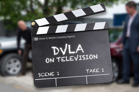 Image of a director's clapperboard to reflect the fact that DVLA assists production companies for film and TV
