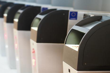 E-passport gates.