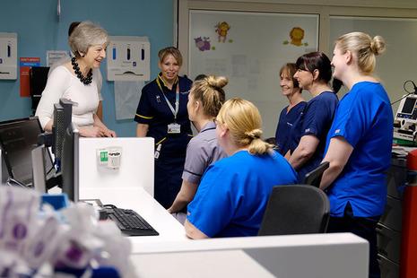 PM Theresa May launches NHS plan
