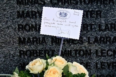 Wreath laid by Secretary of State for Scotland David Mundell