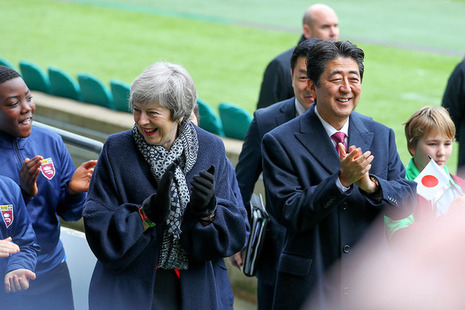 Prime Minister May with Prime Minister Abe