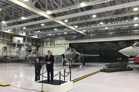 Defence Secretary, Gavin Williamson visits RAF Marham