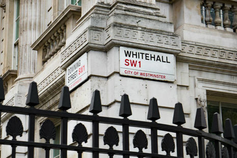 Whitehall Downing Street sign