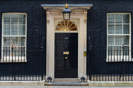 Landscape of 10 Downing Street