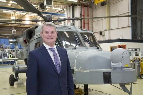 Defence Minister Stuart Andrew at Leonardo, Yeovil