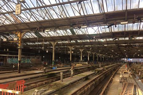 Internal view of carriage shed