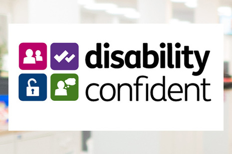 Disability Confident Employer logo.