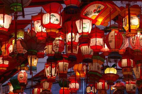 Lanterns at a lantern festival.