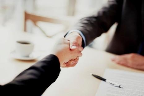 Stock image of a hand shake.