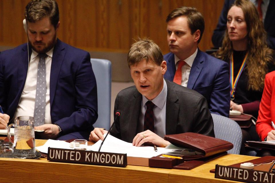 Ambassador Jonathan Allen at the UN Security Council