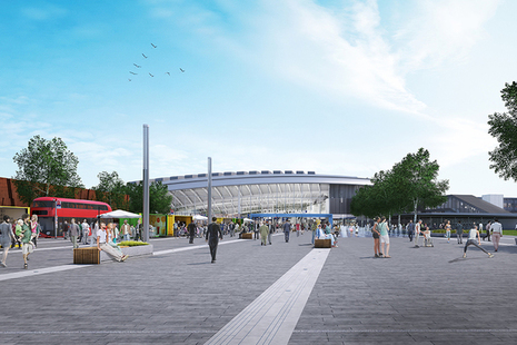 Design vision for the plaza entrance to Old Oak Common
