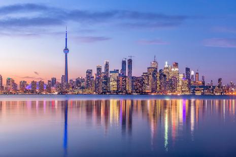 An image of the skyline of Toronto