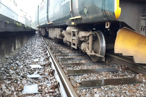 The train following the derailment (image courtesy of Network Rail)