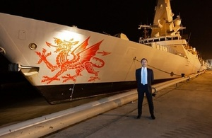Royal Navy's type 45 HMS Dragon visits Karachi