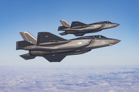 Two RAF F35B Lightnings over the North Sea
