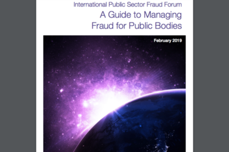 Detail from front cover of A Guide to Managing Fraud for Public Bodies