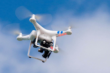 Image of drone in flight.