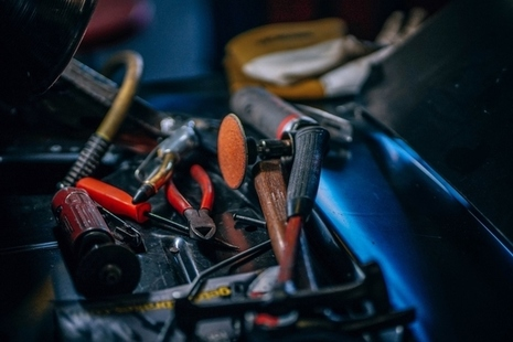 Photo of a toolbox and tools