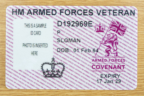 Read the New veterans ID cards rolled out to service leavers article