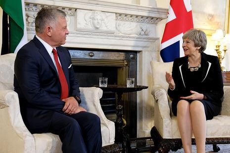 PM Theresa May meets King Abdullah II of Jordan