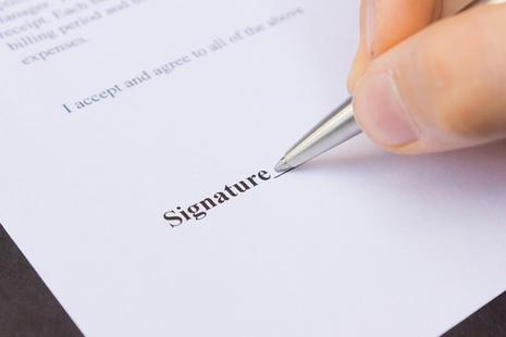 NDA signing