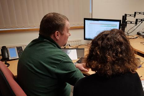 RAIB team members reviewing information