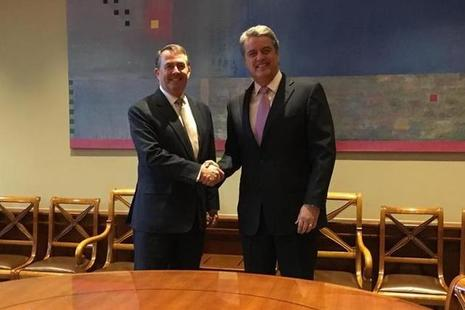 International Trade Secretary, Dr Liam Fox with WTO Director General, Robert Azevedo