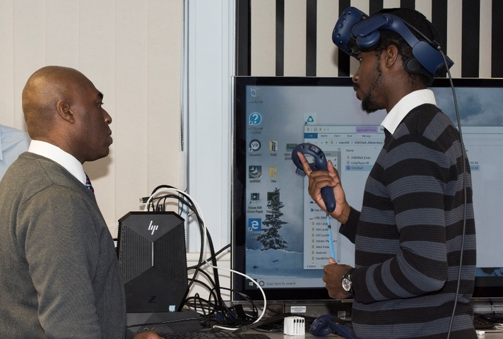 Dstl specialists set up a virtual reality collaboration