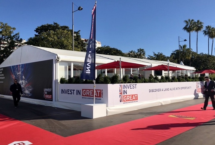 The Department for International Trade stand at the MIPIM event in Cannes