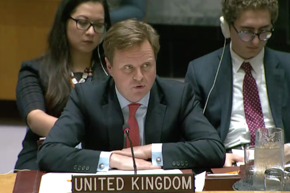 Stephen Hickey at the UN Security Council
