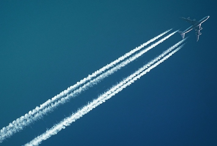 Aeroplane flying in the sky