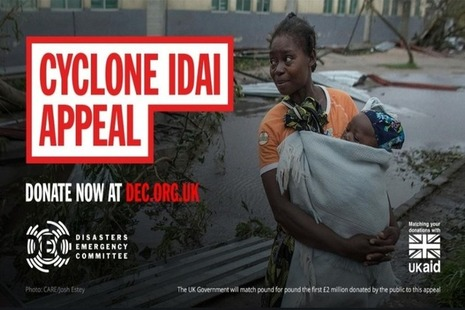 Cyclone Idai appeal poster
