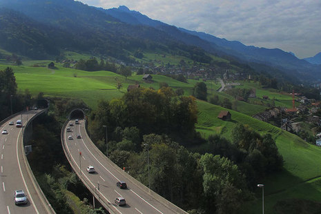 Motorway in Switzerland.