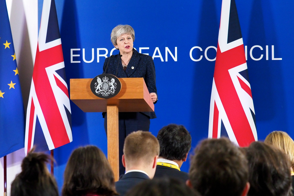 Prime Minister speaking at the March 2019 European Council